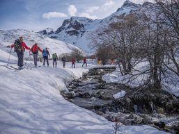 Ski de rando à la montée dans le Val Maira