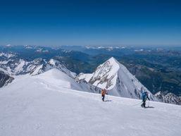 Pas loin du sommet du Mont Blanc