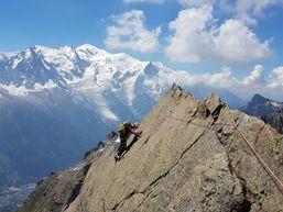 Escalade dans le Aiguilles Rouges de Chamonix