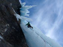 Cascade de glace en Suisse