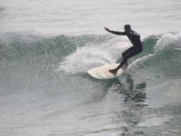 Fayçal surfing one of Moroccos best Surf Spots