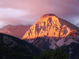Vue d'un coucher de soleil depuis Gaudichart
