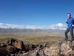 Trekking sur les collines de l'Altiplano.