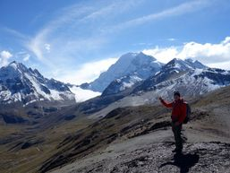 Trek en direction du Huayna Potosi.