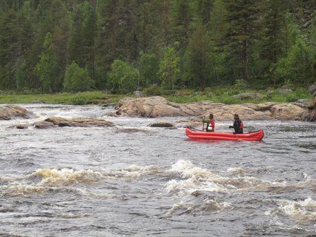 Les rapides de la rivière Ivalojoki
