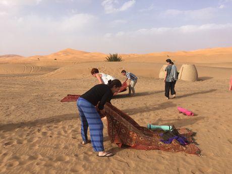 pratique dans les dunes