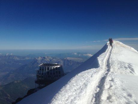 Retour du Mont Blanc, arrêt café au gouter