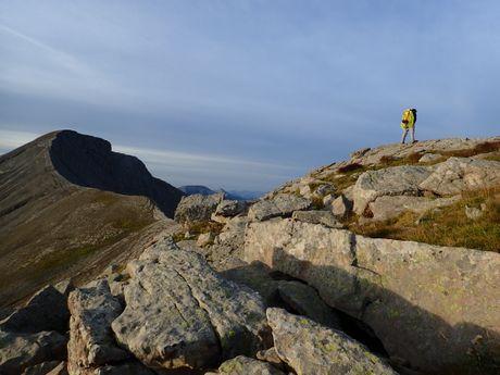 Les hauts sommets de la vallée à près de 3000m