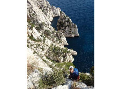 Grandes voies dans les Calanques de Marseilles