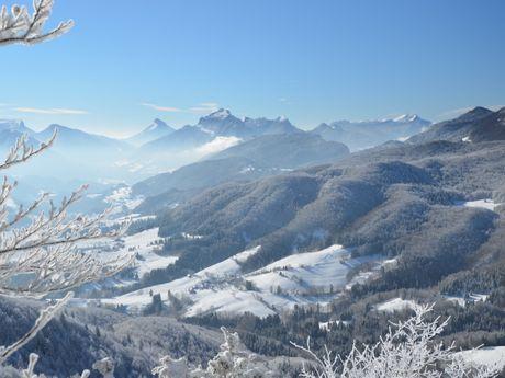 Panorama sur le massif de Chartreuse