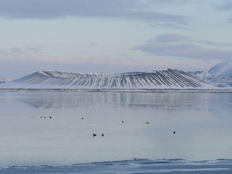 Panorama sur un lac islandais