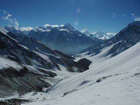 Panorama sur les montagnes népalaises