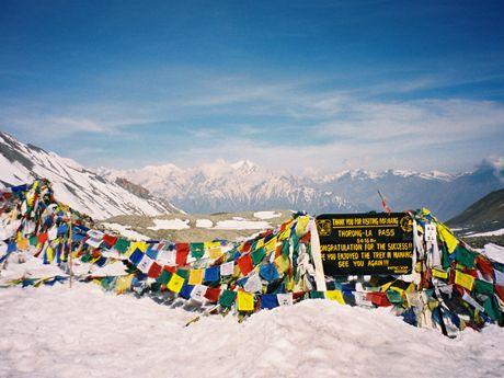 Passage de Thorong La au Népal