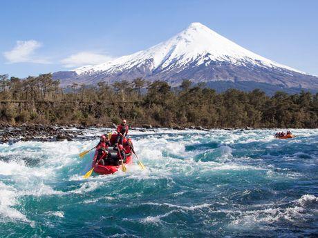 Rafting et volcan