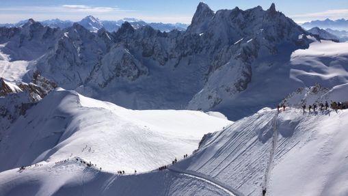 Descente de la Vallée Blanche à skis-10