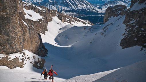 Duo en route pour l'ascension du Chourum