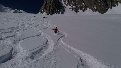 Laisser sa trace dans la Vallée Blanche