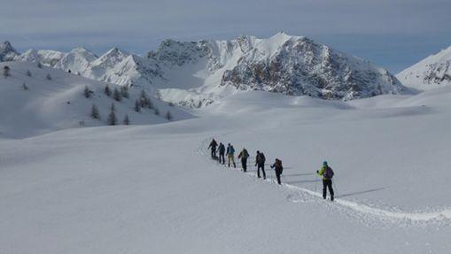 randonnée à ski entre Briançonnais et Piémont