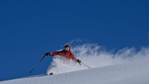 Ski hors-piste à La Plagne-3