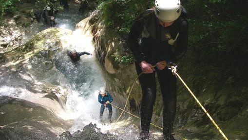 Descente canyoning des Cascades de Chaley-2