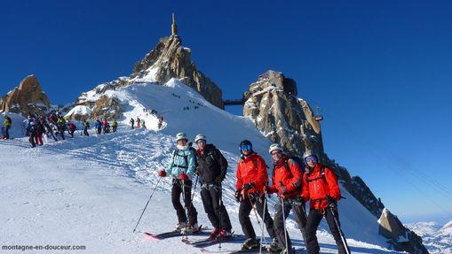 Descente de la Vallée Blanche à ski-4