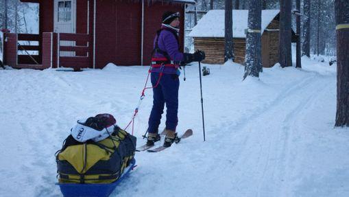 Raid à ski et pulka dans la réserve de Kevo-7