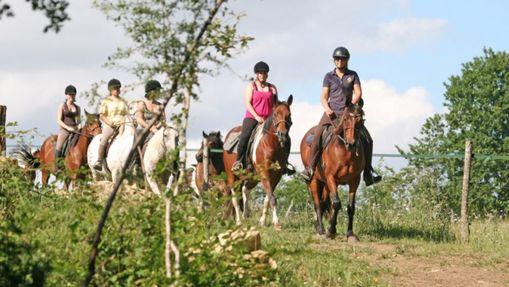 Randonnée découverte des Gorges du Ciron à cheval -4