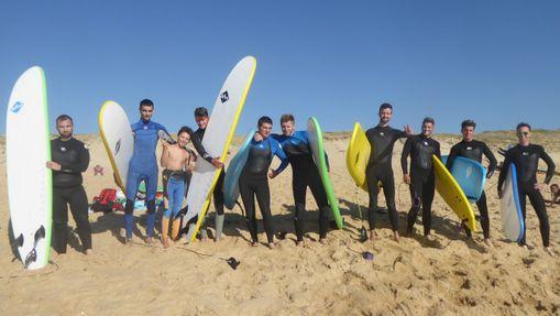 Un groupe en stage plage VVF