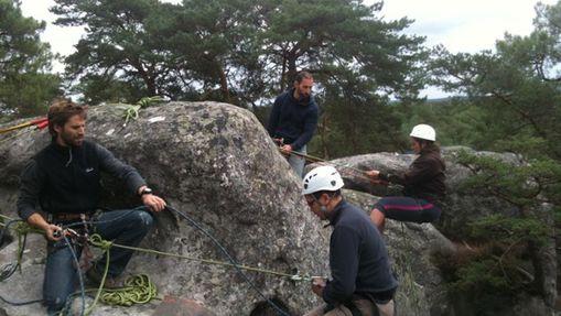 Mini raid aventure escalade à Fontainebleau-1