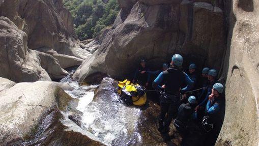 Descente intégrale du canyon du haut Chassezac-3