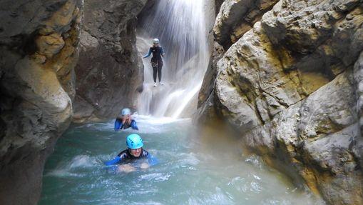 Canyoning sportif dans le canyon de Montmin-4