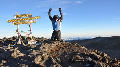Trekkeur au sommet Uhuru