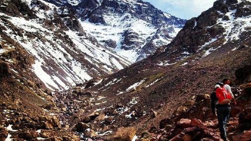 Trekkeur dans le Massif du Toubkal