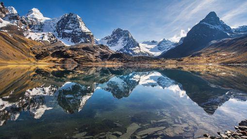 Trek et ascensions de trois géants en Bolivie