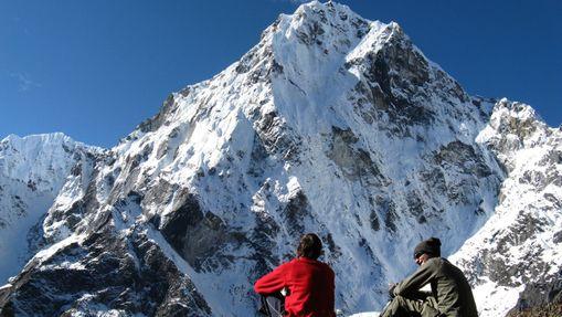 Trail sur la montagne de l'Annapurna-1