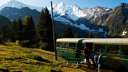 Tramway du Mont Blanc + personnes