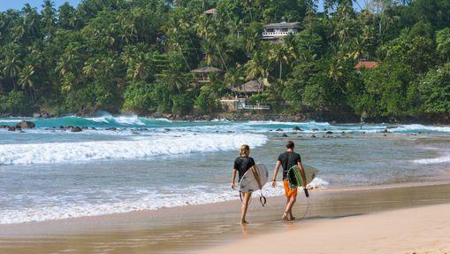 Surfcamp dans la baie de Weligama au Sri Lanka