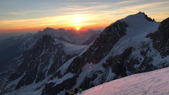 Ascension du Mont-Blanc à ski de randonnée
