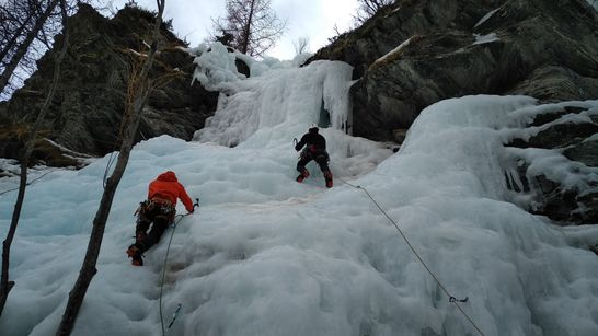 stage cascade de glace initiation