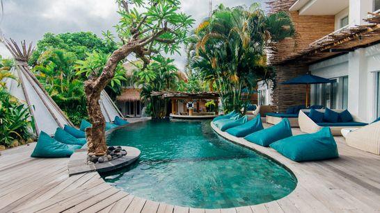 Surfcamp en villa à Seminyak au sud de Bali