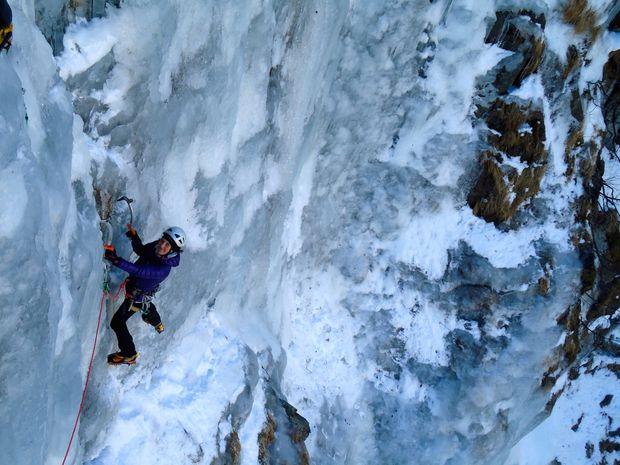 grimpeur en grande voie