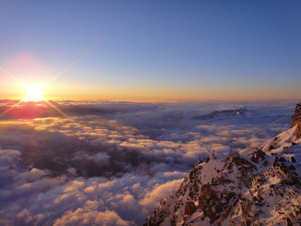 Coucher de soleil depuis le Refuge des Cosmiques