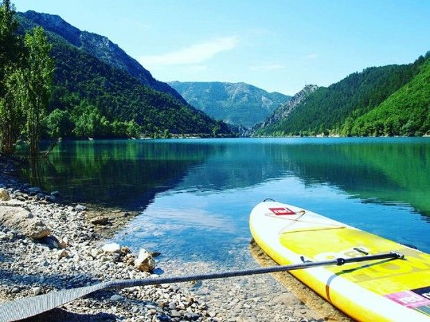 Initiation Stand Up Paddle sur le Lac de Castillon-5
