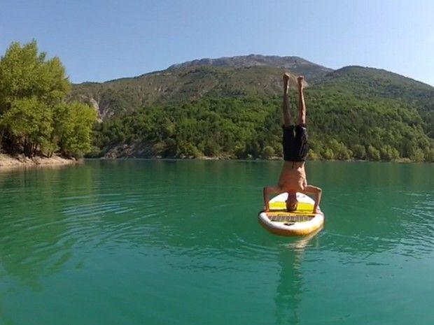 Stand up paddle initiation lac de Castillon-1