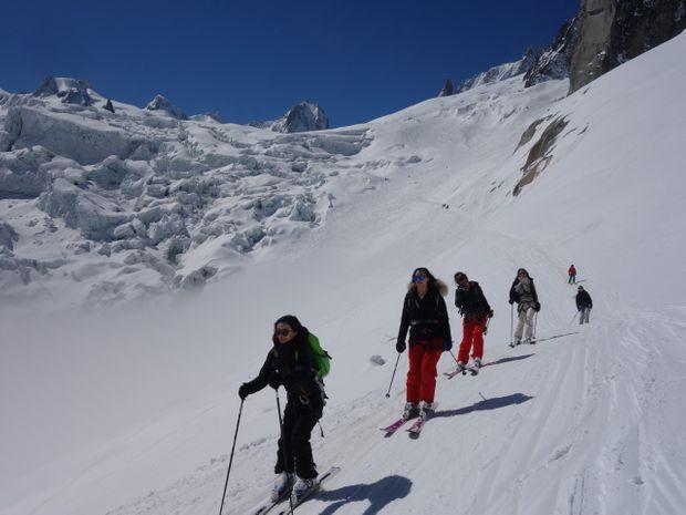 Descente de la Vallée Blanche à ski-5