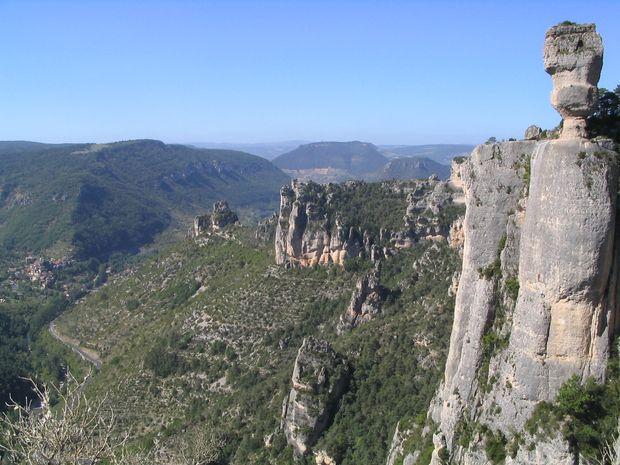 Grande voie dans les Gorges de la Jonte-1