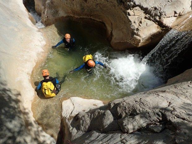 Canyoning dans le canyon du Riolan-5