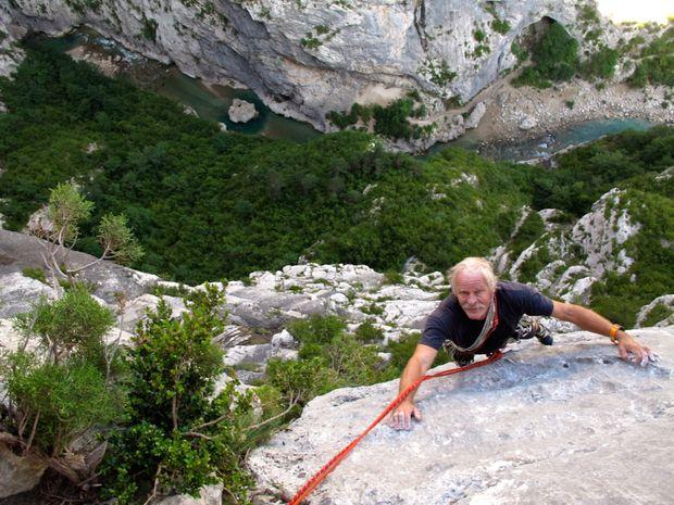 Grande voie d'escalade dans les Gorges du Verdon-4