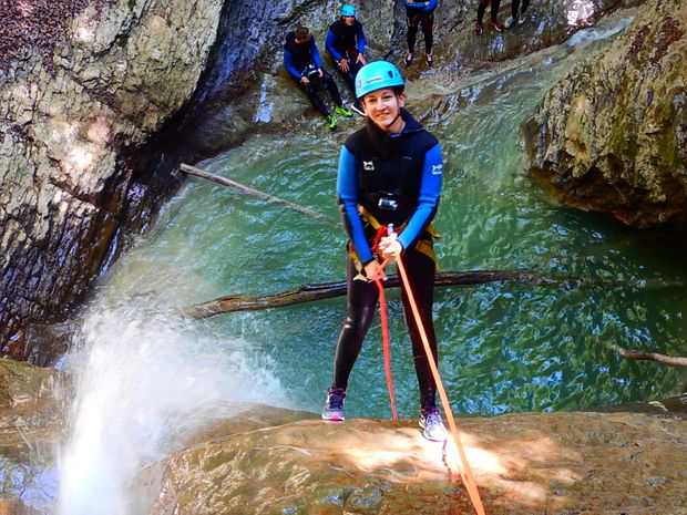 Canyoning découverte d'Angon-4