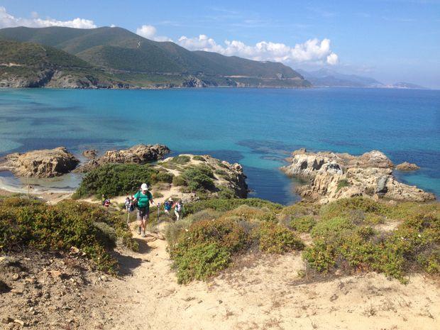 Panorama sur les côtes de la Corse